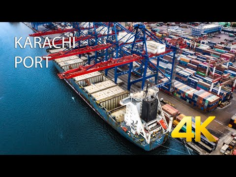 KARACHI PORT ⚓️ - 4K Ultra HD - Karachi Street View