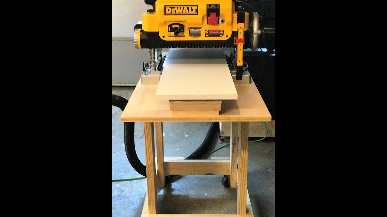 How To Build A Planer Stand And Planer Table Dewalt