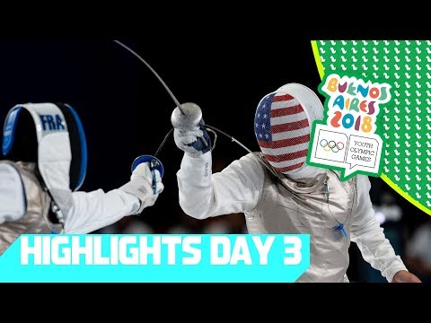 Swimming, Fencing and Sport Climbing Medals have been decided! | YOG 2018 Day 3 | Top Moments