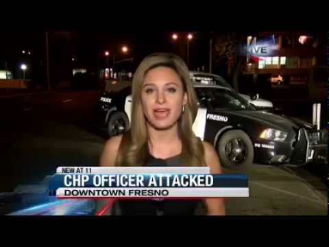 Dozens of people in Fresno attack a CHP patrol car