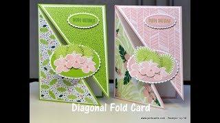 No.399 - Diagonal Fold Card - UK Stampin' Up! Independent Demonstrator