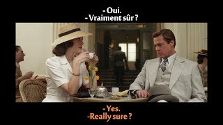 FRENCH LESSON - learn french with movies ( french + english subtitles ) Allied part1