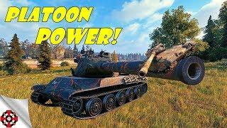 World of Tanks - PLATOON POWER! (WoT gameplay)
