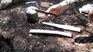 Fallkniven F1:  Fire, Fatwood, Feathersticks, and Food
