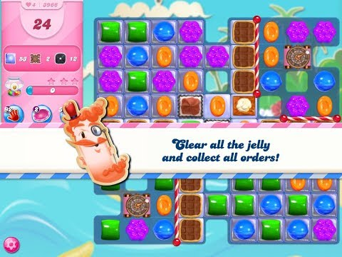 Candy Crush Saga Level 3966 (3 Stars, No Boosters)