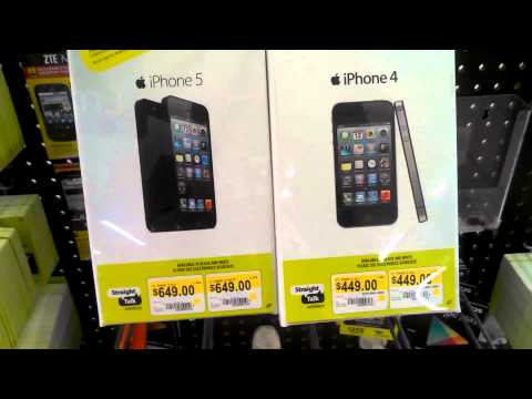 WALMART SELLING STRAIGHT TALK IPhone 5'S & 4'S NOW!!!!!! 1080P REVIEW