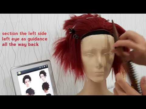 Tanjiro Wig ( Spike + Glued Hairline + Airbrush) Tutorial
