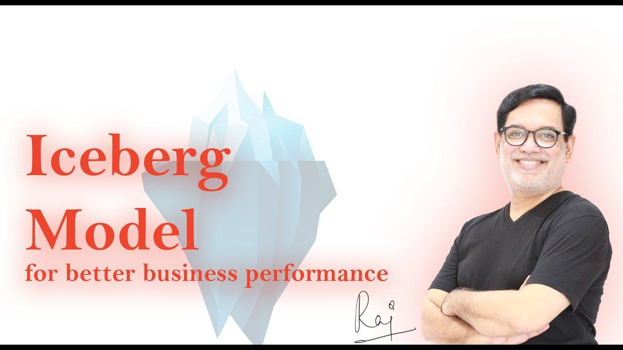 """""""Iceberg model"""" for better business performance."""
