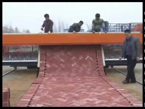 brick path laying machine
