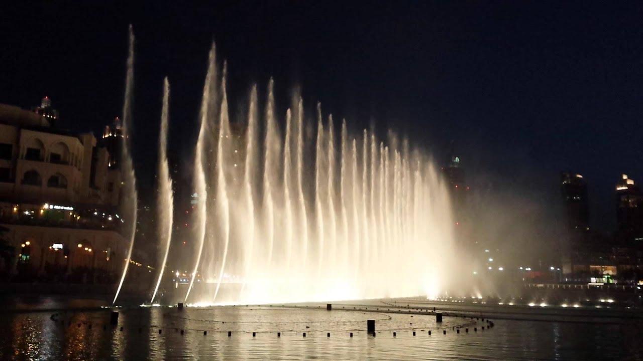 Espectaculo Fuente De Dubai Mayo 2014 De Noche