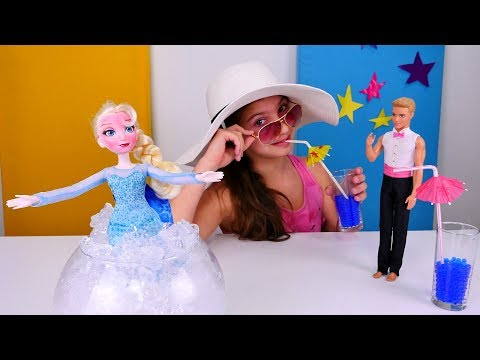 Кукла #Эльза и Полен!  У Принцессы Диснея Солнечный удар ☀️#ХолодноеСердце Видео игрушки для детей