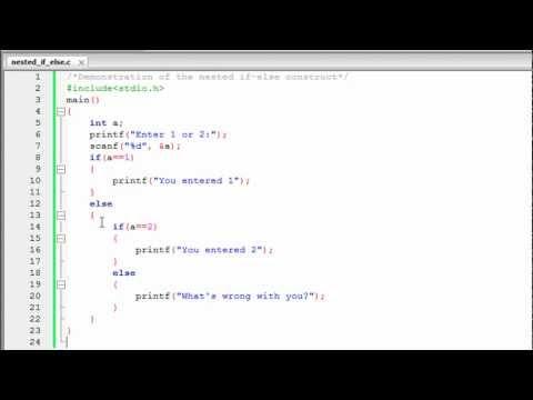 C Programming Tutorial - 20: Nested if-else Statement