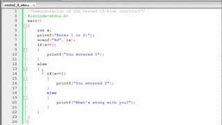 C Programming Tutorial - 20: Nested if-else Statement