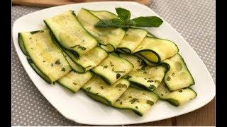 Zucchine marinate senza cottura, RICETTA FACILISSIMA