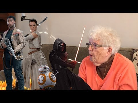 Showing My Grandma Star Wars: The Force Awakens For The First Time (Supercut!)