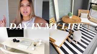SETTING UP MY HOME OFFICE + AMAZON HOME HAUL | Day In My Life Vlog