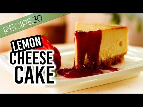Baked Lemon Mascarpone Cheese Cake