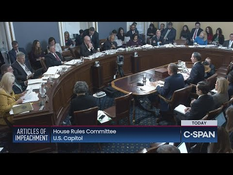 House Rules Committee Meets On Articles Of Impeachment