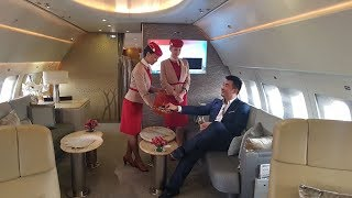Inside the Emirates Private Executive Jet A319ACJ