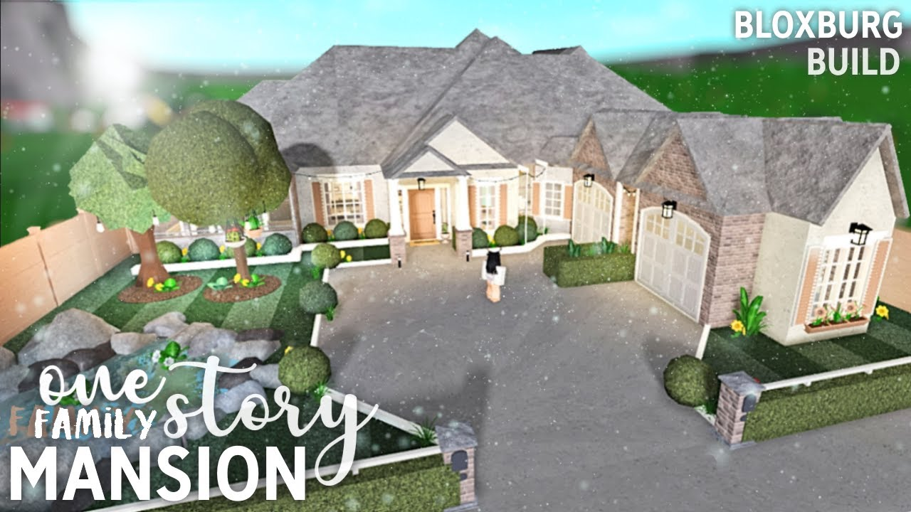 Roblox Bloxburg One Story Family Mansion Youtube