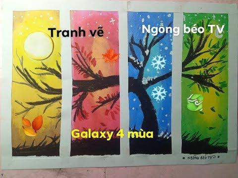 How to paint galaxy 4 season/Tranh vẽ galaxy 4mùa