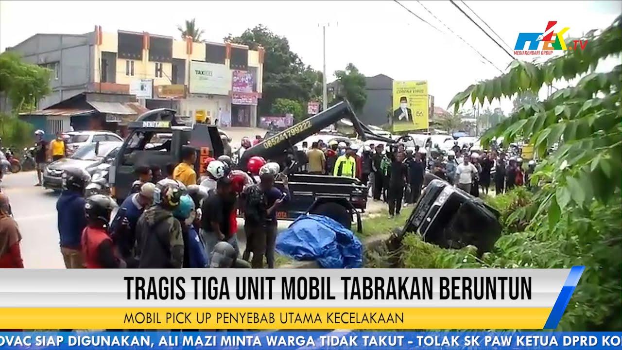 Tragis Tiga Unit Mobil Tabrakan Beruntun