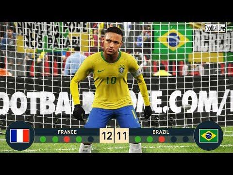 PES 2019 | goalkeeper MBAPPE vs goalkeeper NEYMAR | Penalty Shootout | France vs Brazil