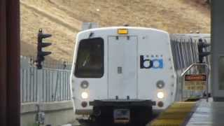 San Francisco Bay Area Rapid Tansit: BART Yellow Line Train at Pittsburg/Bay Point Station Part 3