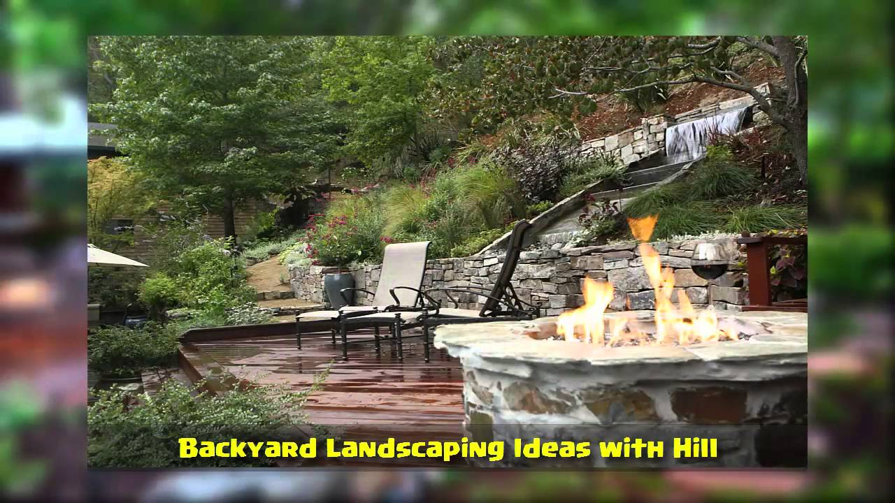 Backyard Landscaping Ideas with Hill - YouTube