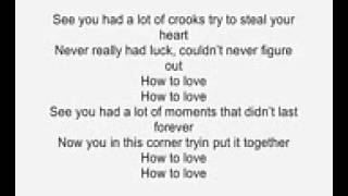 How To Love by Lil Wayne acoustic guitar instrumental cover with lyrics