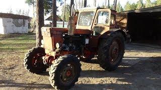 Жөндеу трактор Т-40 АМ ч № 9,бірінші, қозғалтқышын іске қосу.