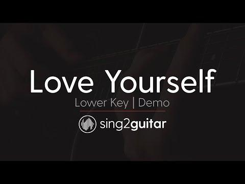 Love Yourself (Lower Key - Acoustic Guitar Karaoke) Justin Bieber