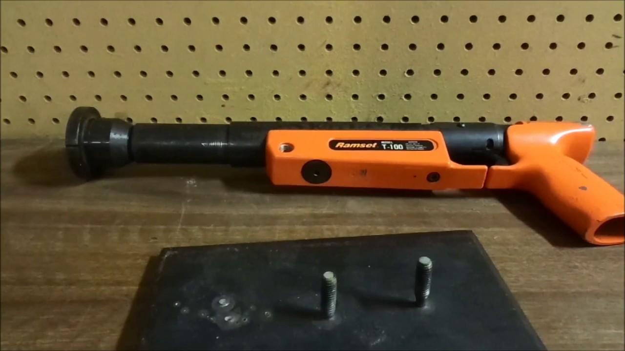 Shooting Ramset Tools Into 3 8 Inch Steel Youtube