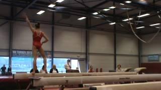 EK-Test AGD-senioren: Laura Waem (Sportiva Sint-Gillis-Waas) - balk