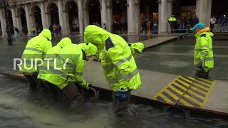 Italy: Venice underwater as flood hits the historic centre