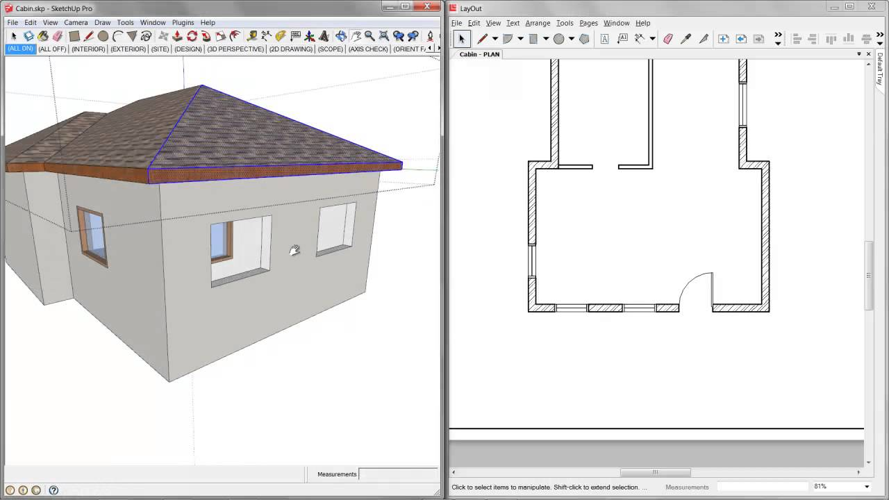 05 Sketchup Layout Construction Documents Revisions