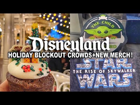 Disneyland Holiday Blockouts Begin, Treats + NEW MERCH SEARCH: Baby Yoda, 2020 & Star Wars TROS!