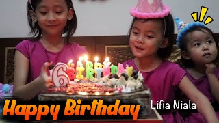 SELAMAT ULANG TAHUN NIALA Ke 6 - it Happy Birthday 6th Surprise Cake Birthday | Lifia Niala Elsa