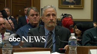 Jon Stewart demands Congress support 9/11 compensation fund