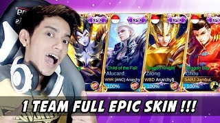 RICUH NGAKAK! FULL EPIC SKIN ft. Dyland, Kibo, Watchout - Mobile Legends Indonesia