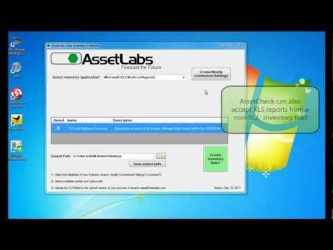 AssetCheck integration with SCCM