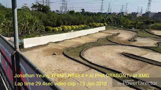 Jonathan Yeung TEKNO NB48.4 + ALPHA DRAGON IV at XMG track 29.4s lap time 2018 Jan 13