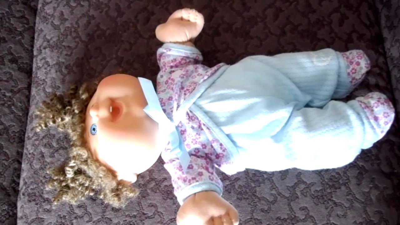Cabbage patch kids baby so real interactive doll youtube.