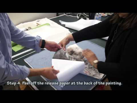 How to Dry Mount a Fan Shaped Painting with Silicone Paper