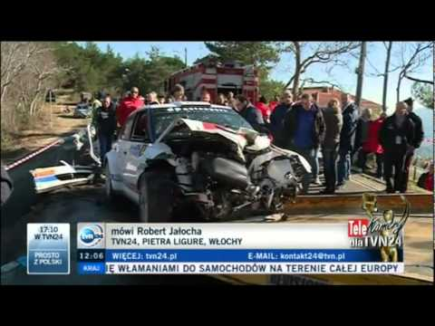 robert kubica rally crash on polish tv news youtube. Black Bedroom Furniture Sets. Home Design Ideas