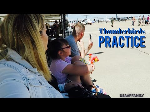 THUNDERBIRDS PRACTICE ON CANNON AFB - May 27, 2016 - usaaffamily vlog
