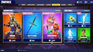 FORTNITE - STORE 'NEW SKINS' -EGIPCIOS' OF HIGHLIGHTED OBJECTS AND DIARIES OF Fornite!!