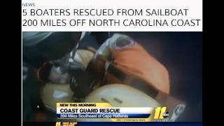 Gunboat 55 5501 Rainmaker Coast Guard rescue.  Sailboat abandoned