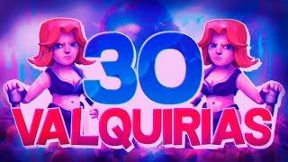 ¡¡LIANDOLA CON 30 VALQUIRIAS!! ♦ Ataques RANDOM en Clash of Clans ♦ En español Davidstar9x