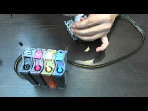 How to prime Epson continuous ink system CISS